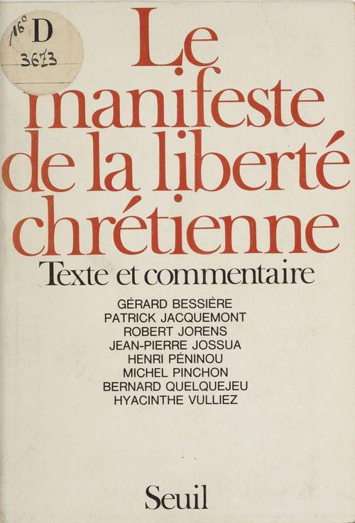 Manifeste de la liberte chretienne