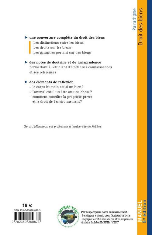 Droit des biens (5e édition)