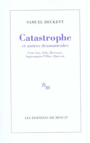 CATASTROPHE ET AUTRES DRAMATICULES - CETTE FOIS