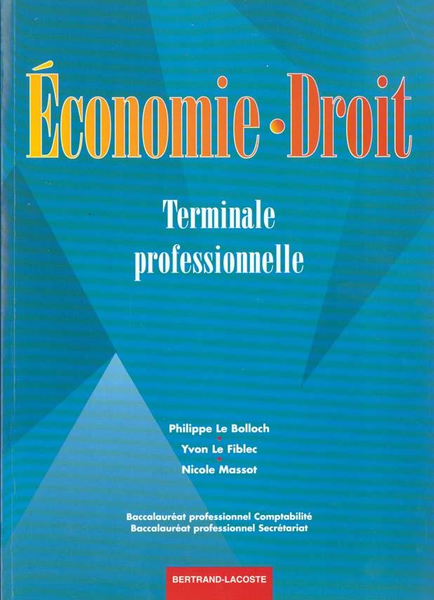 Economie-droit ter bac pro/le fiblec
