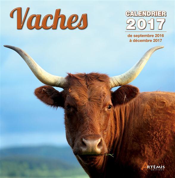 Vaches ; calendrier 2017, de septembre 2016 à décembre 2017
