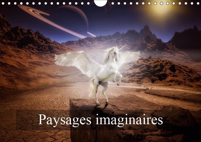 Paysages imaginaires (calendrier mural 2019 din a4 horizontal) - images de mondes virtuels (calendri