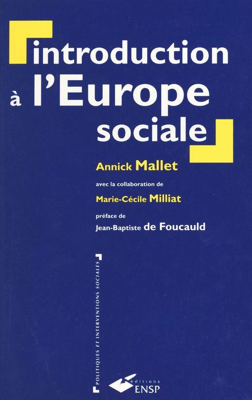 Introduction à l'Europe sociale