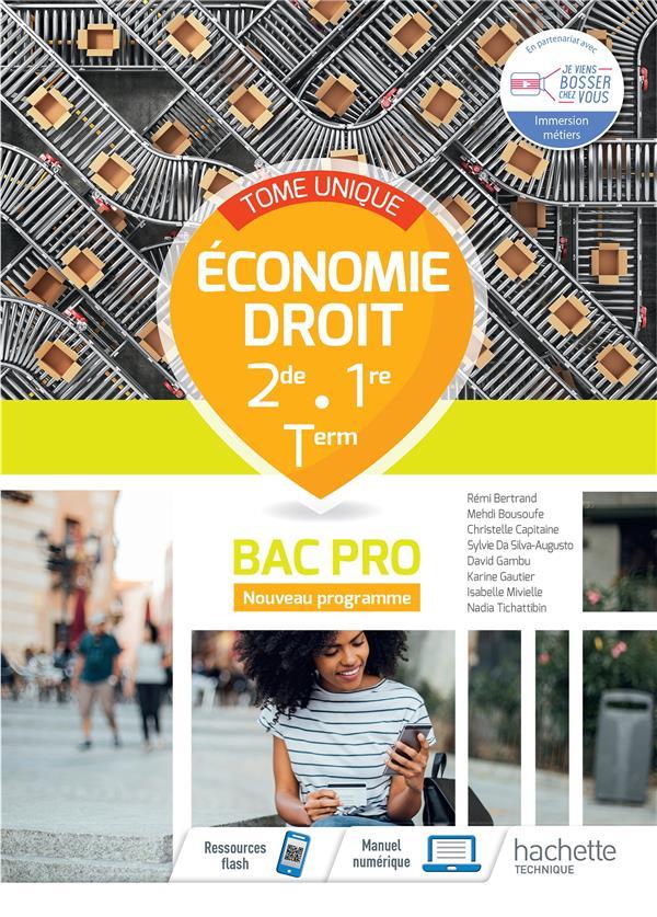 économie - droit ; 2de, 1re; terminale bac pro ; livre élève (édition 2021)