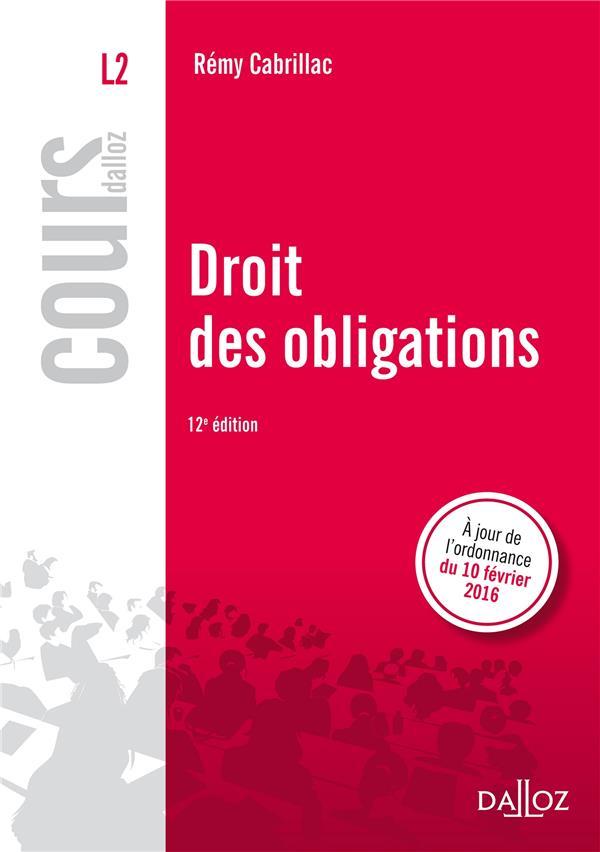 Droit des obligations (12e édition)