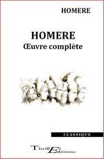Vente Livre Numérique : Homère - oeuvre complète  - Homère