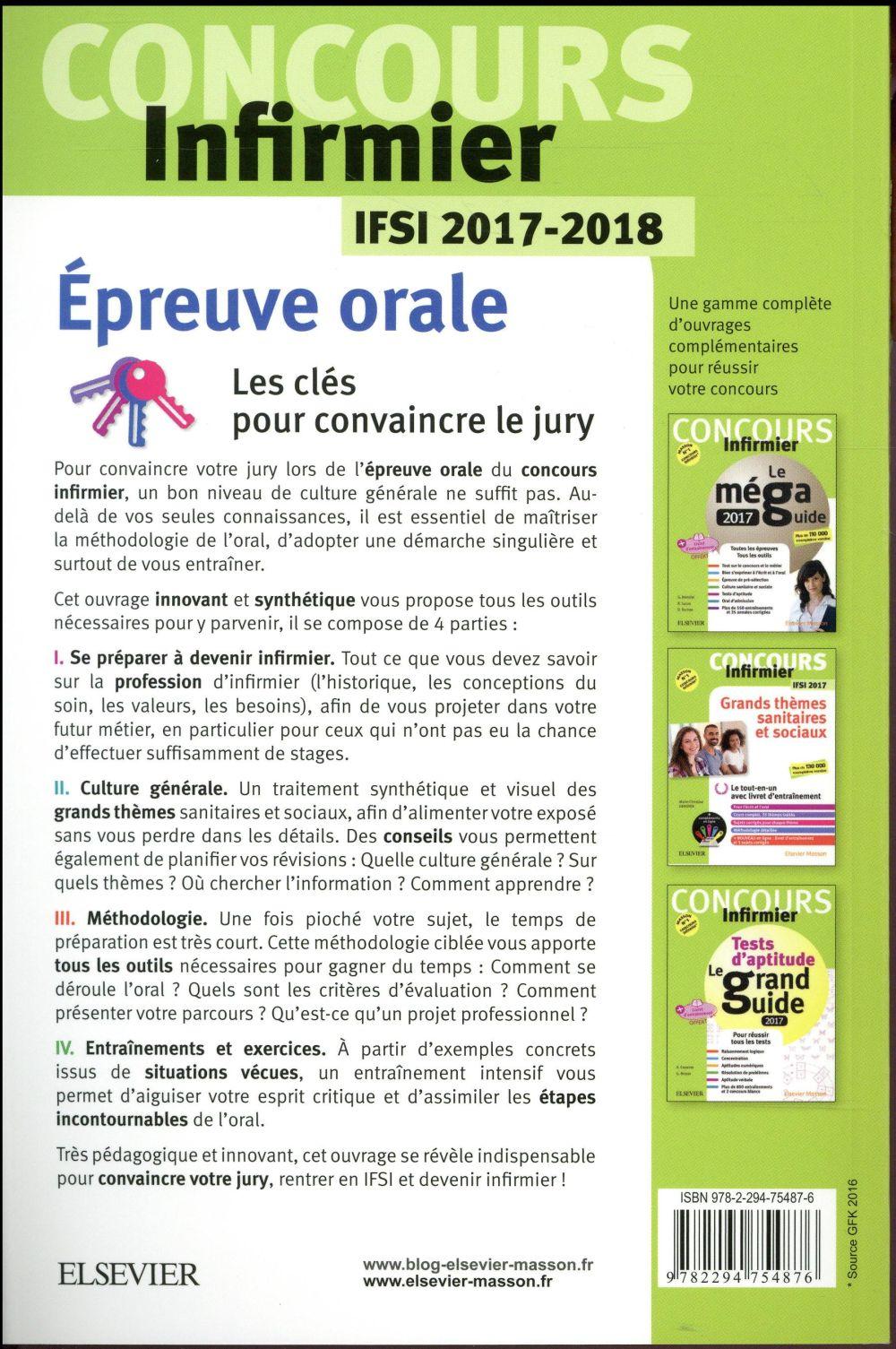 Concours Infirmier Epreuve Orale Ifsi 2017 2018 Pierre Montagu Elsevier Masson Grand Format Al Kitab Tunis Le Colisee