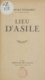 Vente Livre Numérique : Lieu d'asile  - Georges Duhamel