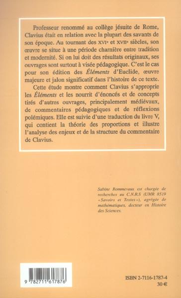 Clavius ; une cle pour euclide au xvi siecle