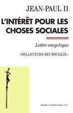 Vente Livre Numérique : L'intérêt pour les choses sociales  - Jean paul ii