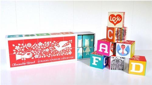 Alexander girard blocks puzzles 26 letters and more