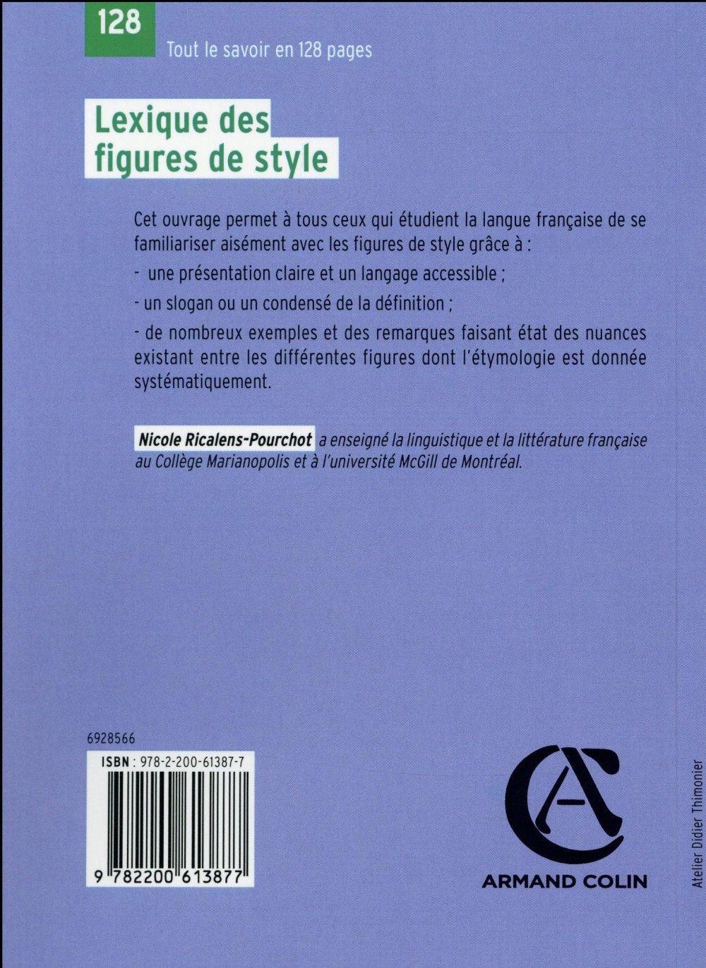 lexique des figures de style (2e edition)