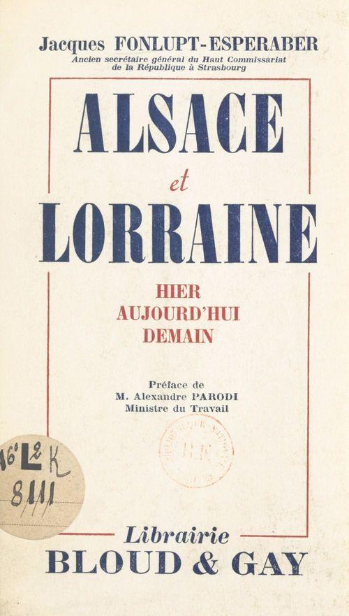 Alsace et Lorraine