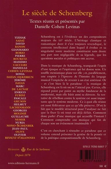 le siècle de Schoenberg
