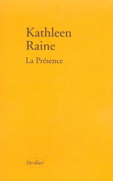 La presence ; poemes 1984-1987