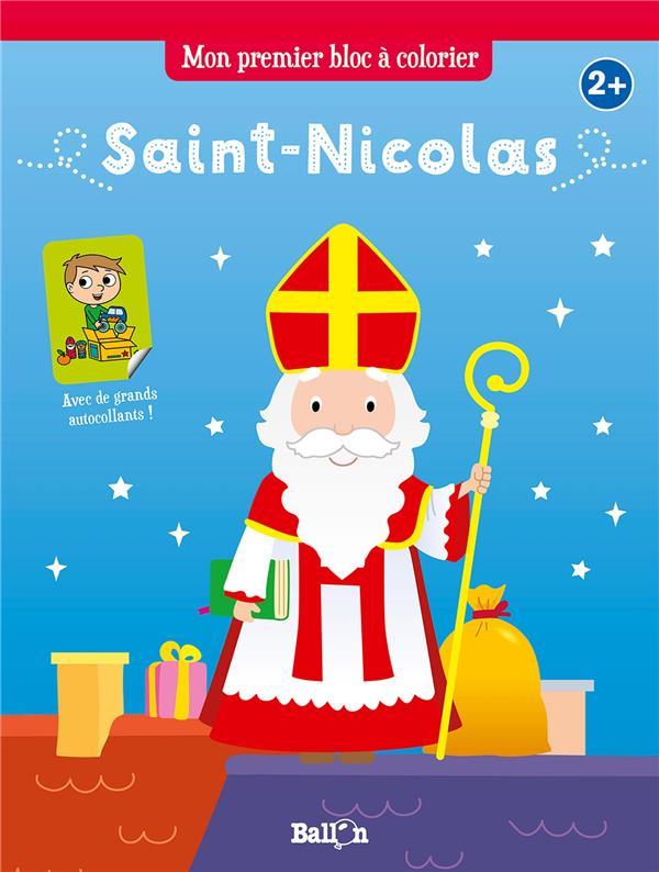 Mon premier bloc à colorier ; saint-Nicolas