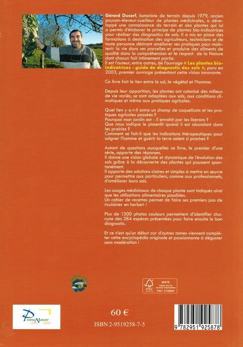l'encyclopédie des plantes bio-indicatrices alimentaires et médicinales ; guide de diagnostics des sols t.1 (6e édition)
