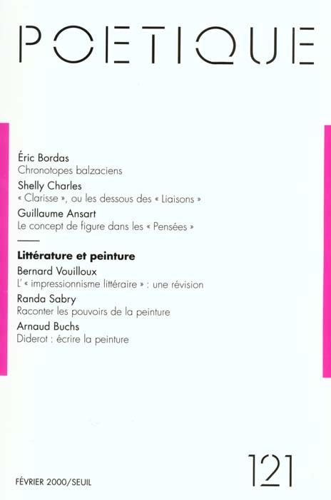Revue poetique t.121; poetique n.121