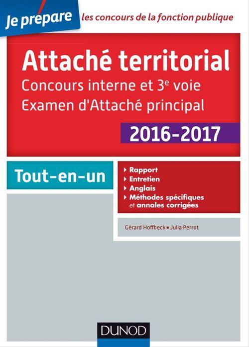 Attaché territorial 2016-2017 - Concours interne et 3e voie