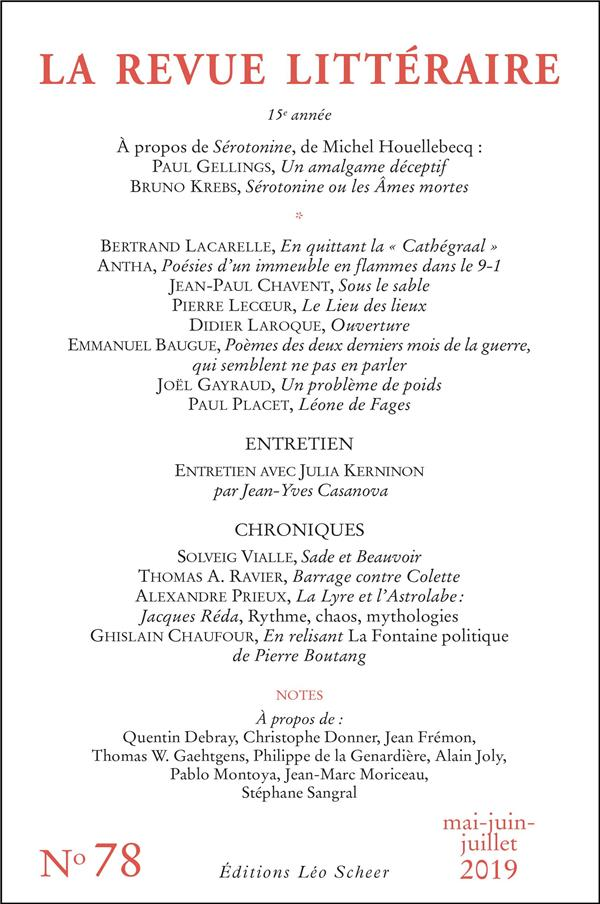 La revue litteraire n.78
