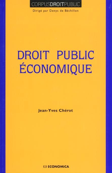Droit public economique
