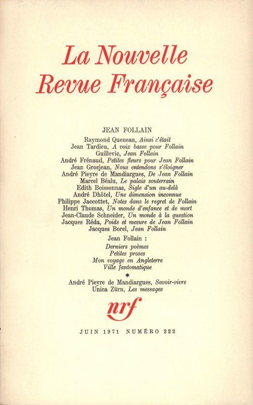 Jean Follain N° 222
