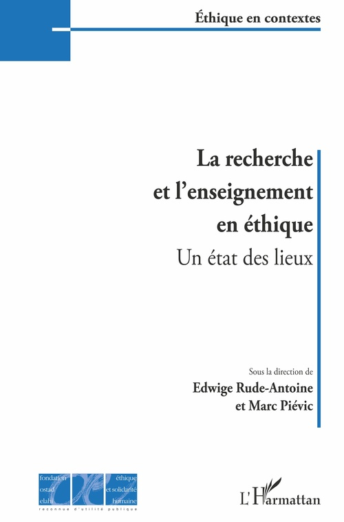 La recherche et l'enseignement en éthique