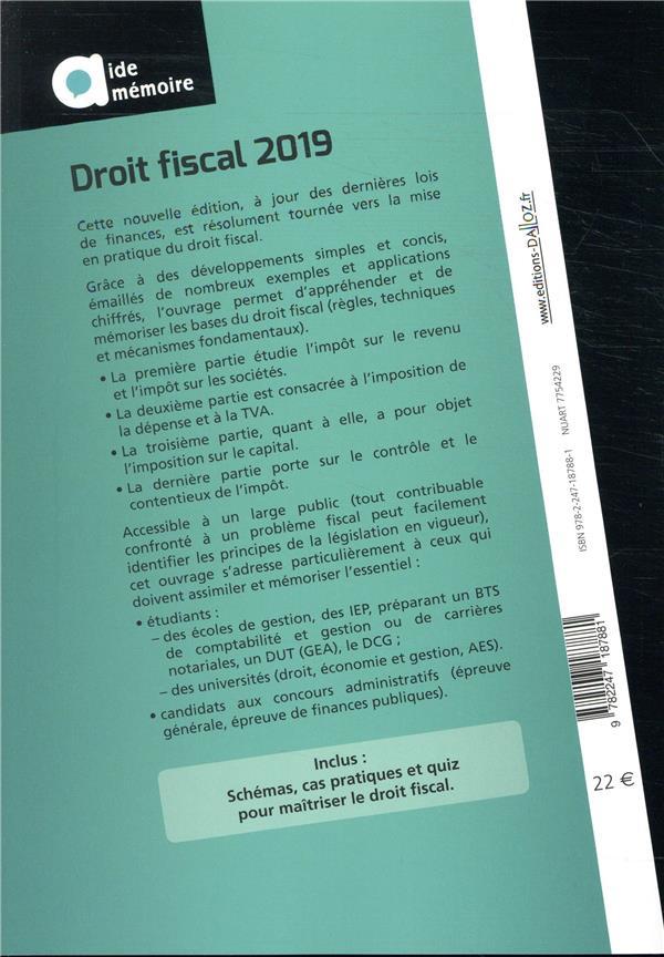 Droit fiscal (édition 2019)