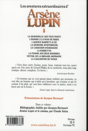 Les aventures extraordinaires d'Arsène Lupin t.3
