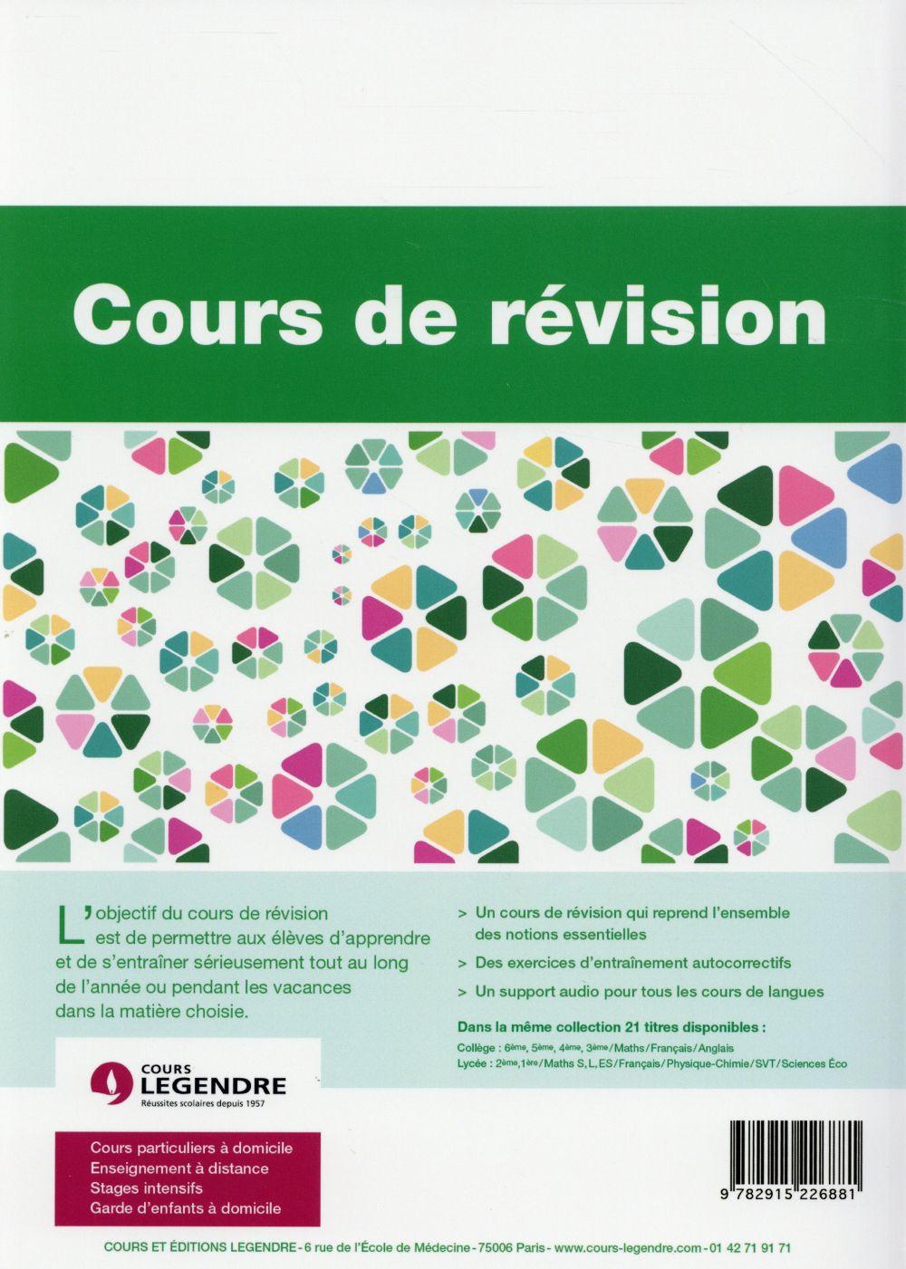 Mathématiques ; 1ères L ES ; cours de révision