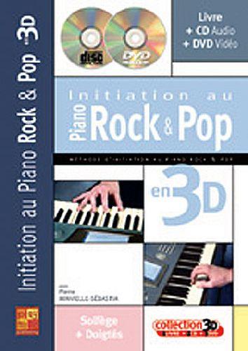 Initiation au piano rock et pop en 3D ; solfège + doigtés