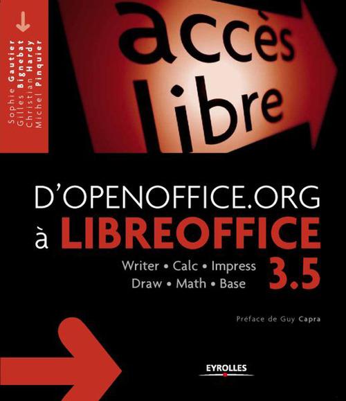 D'openoffice.org à libreoffice 3.5 ; writer, calc, impress, draw, math, base