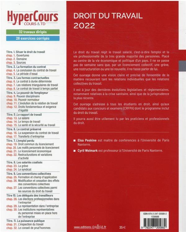 droit du travail (édition 2022)