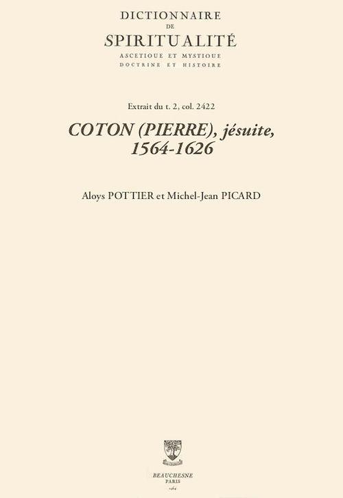 COTON (PIERRE), jésuite, 1564-1626