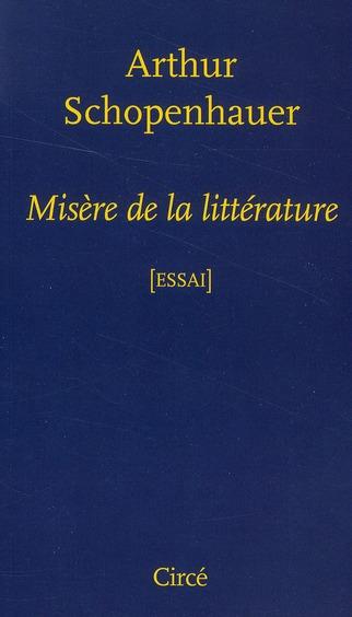 Misère de la littérature