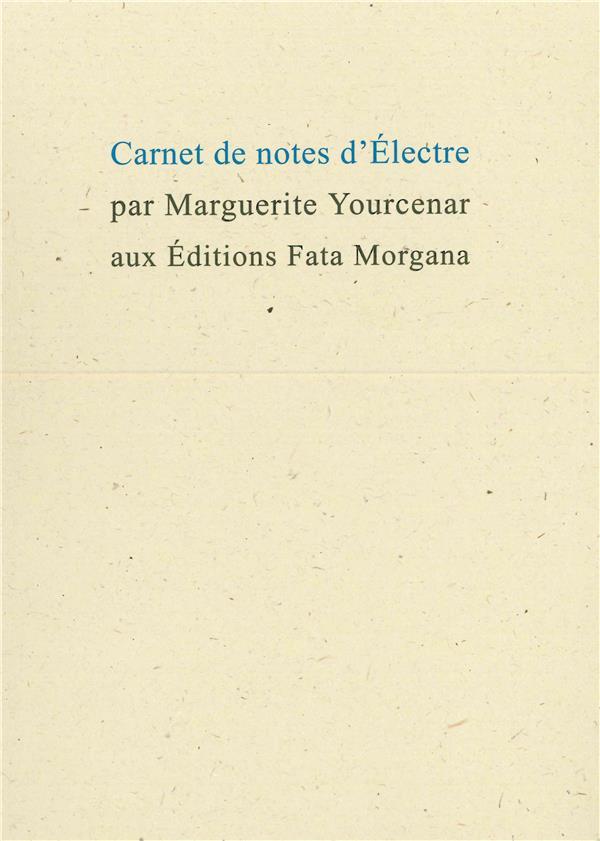 Carnet de notes d'Electre