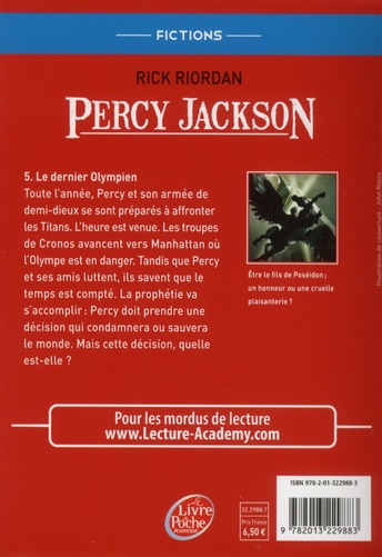 Percy Jackson T.5 ; le dernier olympien