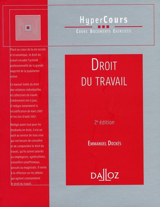 Droit du travail (2e édition)