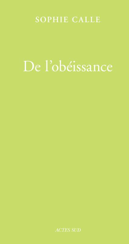 De l'obéissance ; livre I