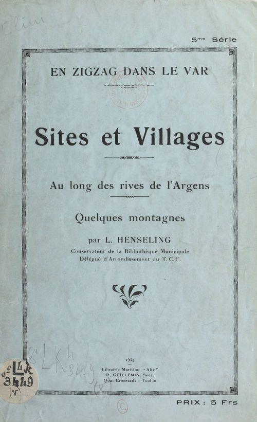 Sites et villages au long des rives de l'Argens