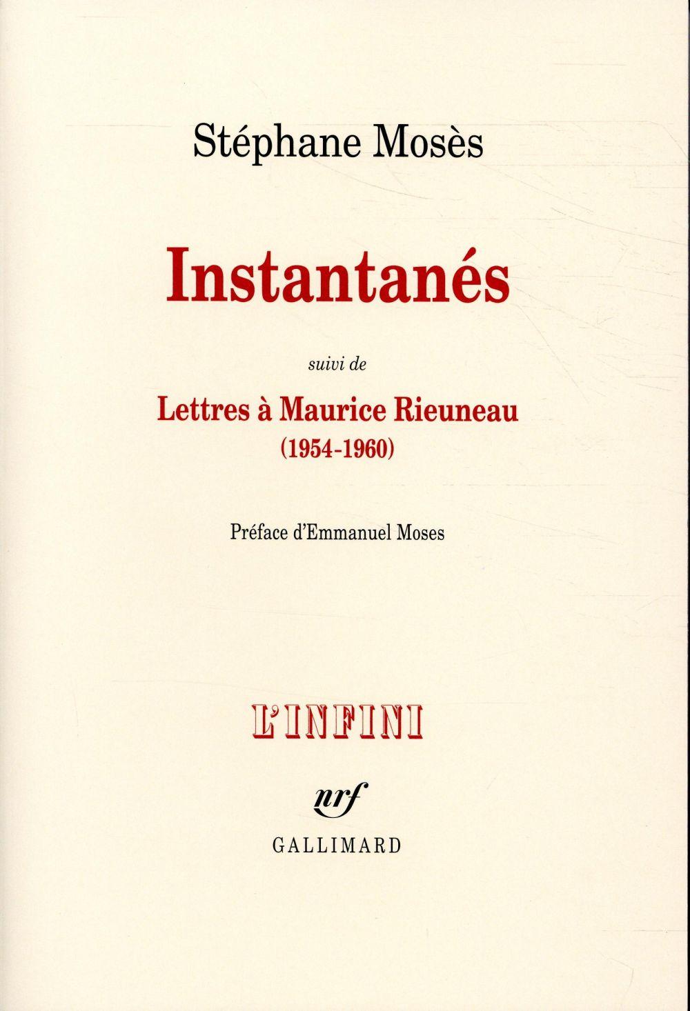Instantanés ; lettres à Maurice Rieuneau (1954-1960)