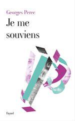 Vente Livre Numérique : Je Me Souviens  - Georges Perec