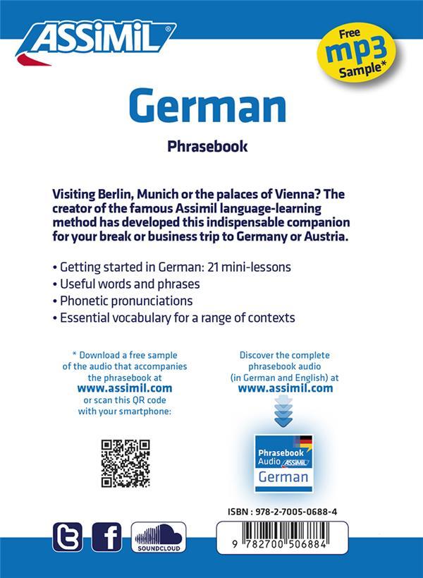 Guides de conversation ; German