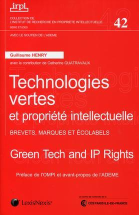 Technologies Vertes Et Propriete Intellectuelle