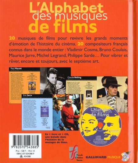 L'alphabet des musiques de films (livre-cd) - vingt musiques de films pour rever avec le septieme ar