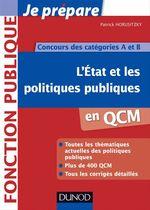 Vente EBooks : L'Etat et les politiques publiques en QCM  - Patrick Horusitzky