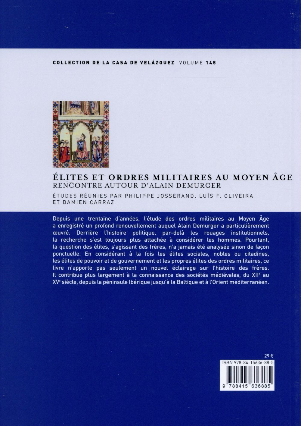 Elites et ordres militaires au moyen age