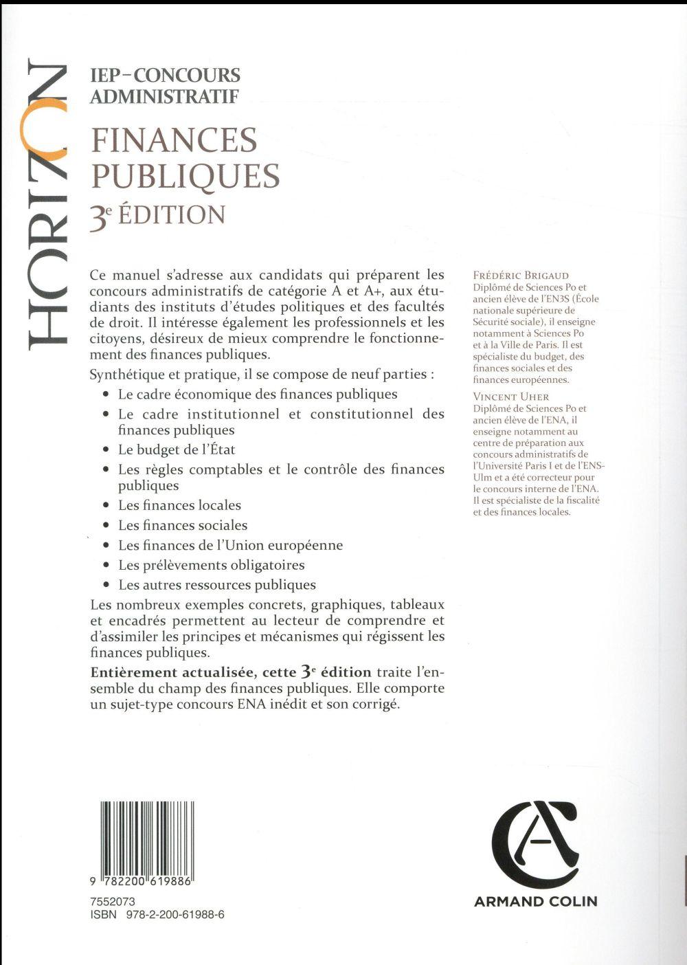 Finances publiques ; IEP-concours administratif (3e édition)