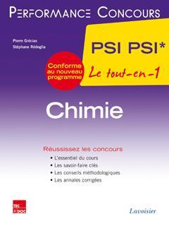 PERFORMANCE CONCOURS ; chimie ; 2e année PSI PSI
