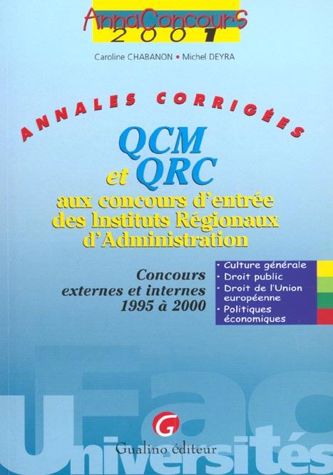 Anna.concours qcm et qrc concours d'entree